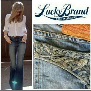 Lucky Brand Easy Glimmer Buttonfly Jeans  Sz 4/27
